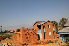 House construction in Madagascar stock photo