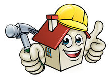 House Construction Mascot Cartoon Character Royalty Free Stock Images