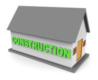 House Construction Means Building Housing And Apartment 3d Rendering Royalty Free Stock Image