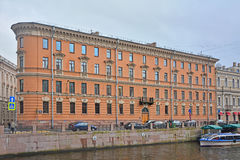 House of 1798 of construction on Moika River in Saint Petersburg, Russia Royalty Free Stock Images