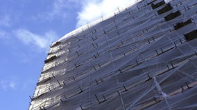 House construction net closeup stock video