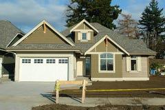 House Construction New Home. New home exterior under construction stock photos