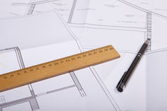 House construction plan Royalty Free Stock Photography