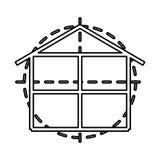 House construction plane isolated icon. Illustration design Stock Photos