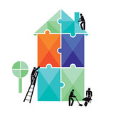 House Construction Puzzle Stock Photos