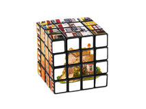 House construction puzzle Stock Images