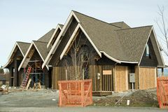 House Construction Roofing royalty free stock photo