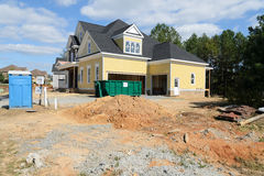 House construction site Stock Image