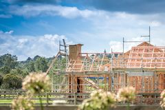 House Construction Site in Auckland stock photography