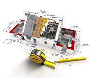 House construction technicalities Stock Image