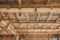 House construction wooden framing Royalty Free Stock Photo
