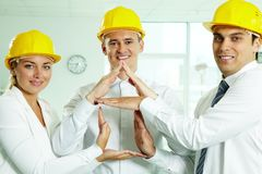 House constructors Stock Image