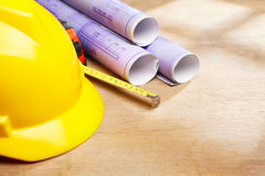 House contruction plan Royalty Free Stock Photography