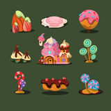 House From Cookies, Islands Sweets, Caramel Trees Royalty Free Stock Image