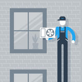 House cooling system stock illustration