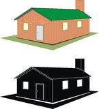 House (cottage). Vector isolated illustration - house (cottage) on wite background Royalty Free Stock Photo