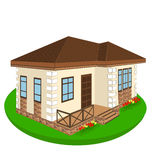 House, cottage, illustration Stock Photography