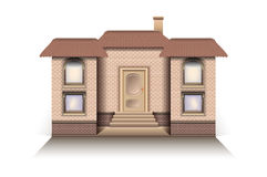 House Cottage modern model with a front entrance vector white background Royalty Free Stock Photography
