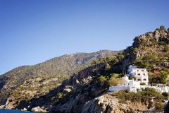 House cottage in the mountains. Greece Stock Image