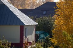 House in a cottage village in the autumn Royalty Free Stock Image