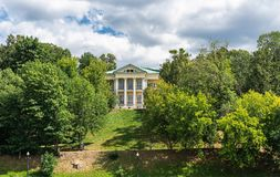 House of count Orlov in Neskuchny garden in Moscow. Sample of Russian architecture of the 18th century. Summer house of count Orlov in Neskuchny garden in Moscow stock images