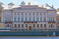 House of the countess A. G. Laval in St. Petersburg, Russia. House of the countess A. G. Laval on Angliyskaya embankment, 4 built in the end of eighteenth stock photography