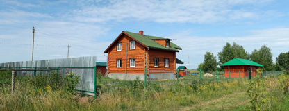 The house in the country. Village at summer. Moscower region, Russia Royalty Free Stock Image