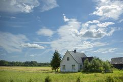 House in the country royalty free stock photography