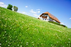 House in the Country Summer Royalty Free Stock Images