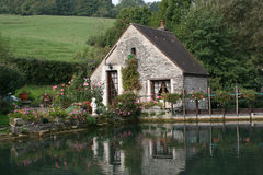 House at countryside. Burgundy Cote d'or France Royalty Free Stock Images