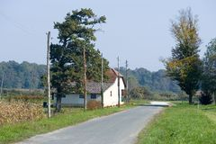 House in countryside Royalty Free Stock Photography