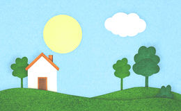 House in the countryside Royalty Free Stock Photos