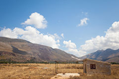 House in the countryside of Macari, Sicily Stock Photography
