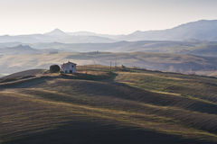 House in countryside in Tuscany Royalty Free Stock Photography