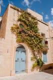 Mdina, Malta. House covered in flowers in Mdina, Malta Royalty Free Stock Photos