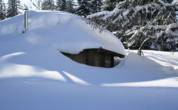 House covered by fresh snow Stock Image