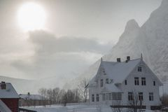 House covered by snow Royalty Free Stock Images