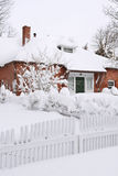House Covered in Snow Stock Photos