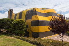 House is covered by tent for fumigation Stock Photos