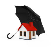 House Covered by Umbrella Royalty Free Stock Photography