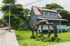 House and Crab sculpture in San Andrés Stock Photos