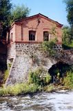 House with a crack. Old water mill in which a crack Royalty Free Stock Photography