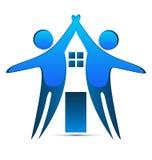 House creative identity card business logo. House creative identity card concept logo design vector Royalty Free Stock Image