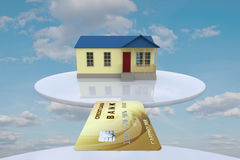 House and credit card Stock Photos