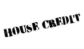 House Credit rubber stamp Stock Photography