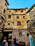 House in Cuenca royalty free stock photo