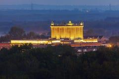 House of Culture in Dabrowa Gornicza. Aerial view. Dabrowa Gornicza, Slaskie, Poland Stock Photos