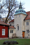 The house with cupola in the center of Vasteras city Stock Photos