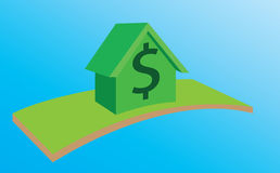 House with currency for Sale,Rent or Mortgage Stock Photo
