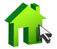 House and cursor Stock Photos
